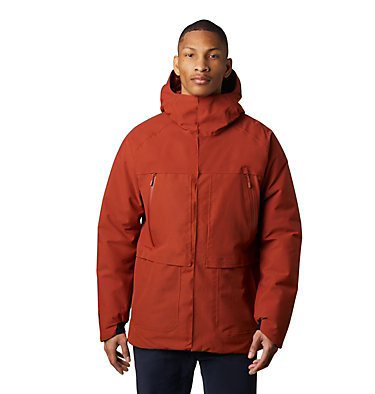 Men's Summit Shadow™ Hooded Down Jacket Summit Shadow™ Gore-Tex® Down  | 406 | XL, Rusted, front