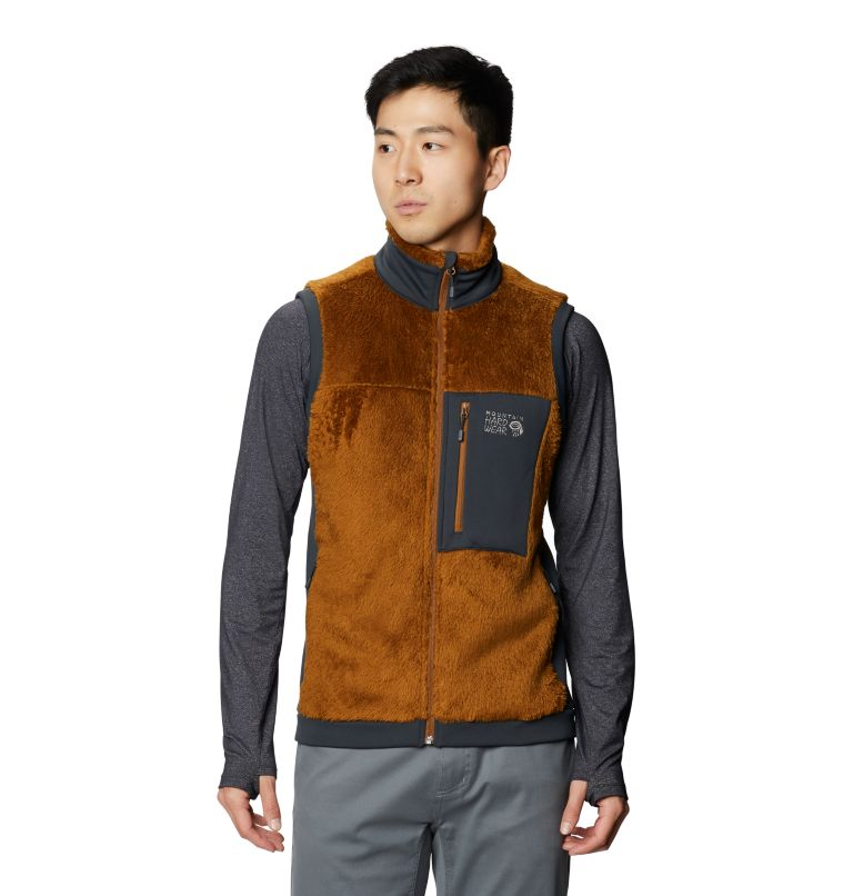 Monkey Fleece™ Vest | 233 | S Men's Polartec® High Loft™ Vest, Golden Brown, front