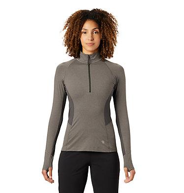 Chandail à manches longues avec fermeture éclair 1/4 Ghee™ Femme Ghee™ Long Sleeve 1/4 Zip | 509 | L, Shark Heather, front
