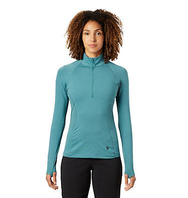 Women's Ghee™ Long Sleeve 1/4 Zip Ghee™ Long Sleeve 1/4 Zip | 011 | L, Washed Turq, front