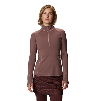 Women's Ghee™ Long Sleeve 1/4 Zip Ghee™ Long Sleeve 1/4 Zip | 011 | L, Smoky Quartz, front