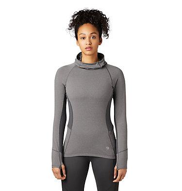 Women's Ghee™ Long Sleeve Hoody Ghee™ Long Sleeve Hoody | 515 | L, Shark, Heather, front