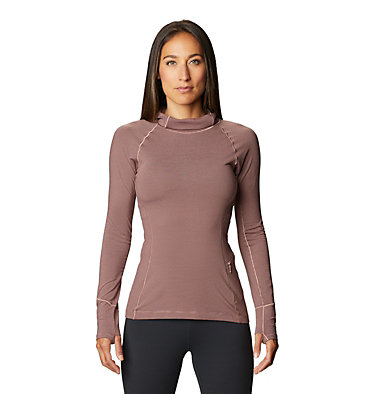 Women's Ghee™ Long Sleeve Hoody Ghee™ Long Sleeve Hoody | 515 | L, Smoky Quartz, front