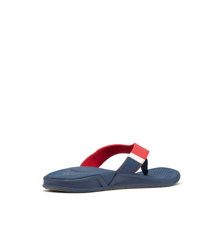 ROSTRA™ PFG | 468 | 10 Men's PFG Rostra™ Flip Flop, Collegiate Navy, Rocket, 3/4 back