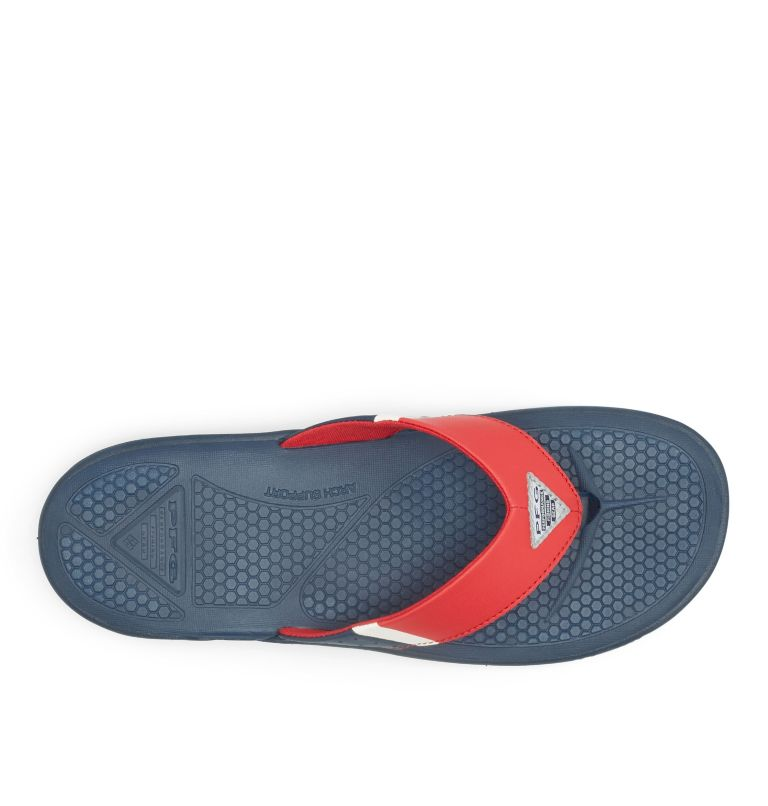 ROSTRA™ PFG | 468 | 7 Men's PFG Rostra™ Flip Flop, Collegiate Navy, Rocket, top