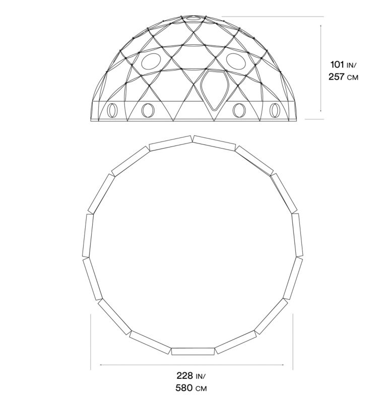 Space Station™ Dome Tent | 675 | NONE Space Station™ Dome Tent, Alpine Red, a10