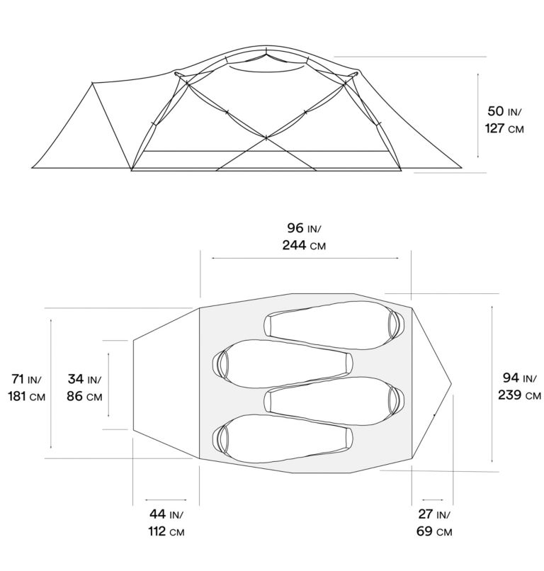 Trango™ 4 Tent | 675 | NONE Tente Trango™ 4, Alpine Red, a10