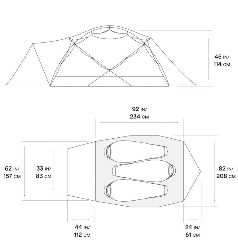 Trango™ 3 Tent | 676 | NONE Trango™ 3 Tent, Alpine Red, a10