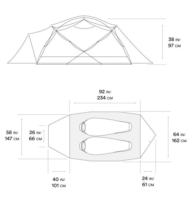 Trango™ 2 Tent | 676 | NONE Tente Trango™ 2, Alpine Red, a10