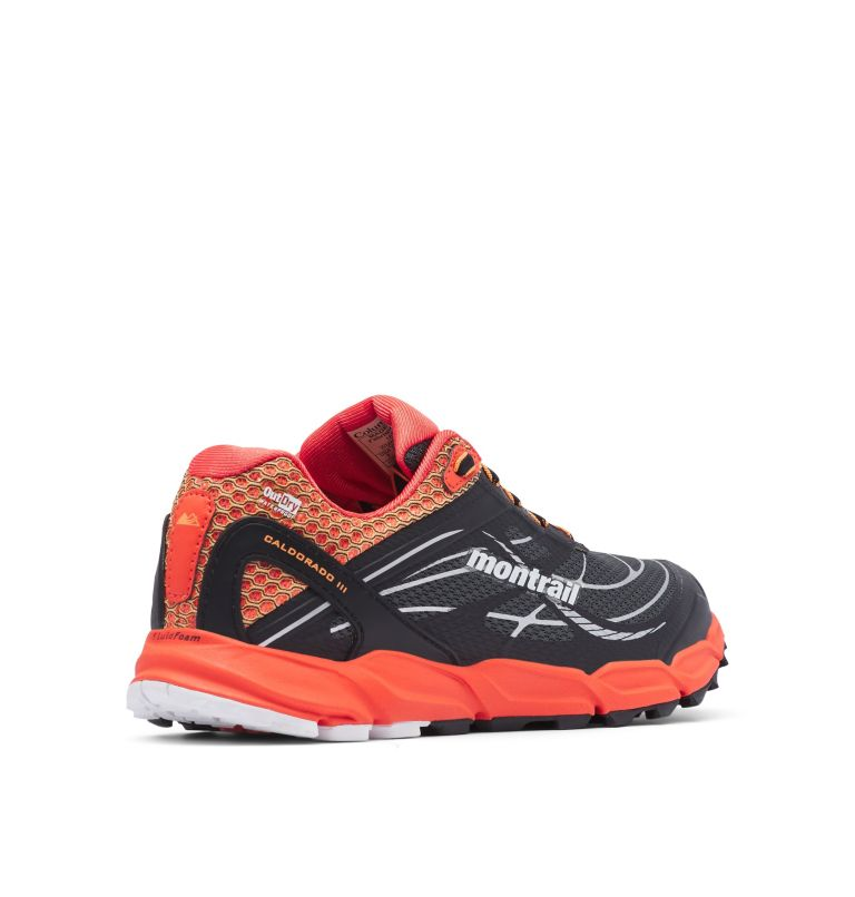 CALDORADO™ III OUTDRY™ | 054 | 10 Women's Caldorado™ III OutDry™ Trail Running Shoe, Graphite, Jupiter, 3/4 back