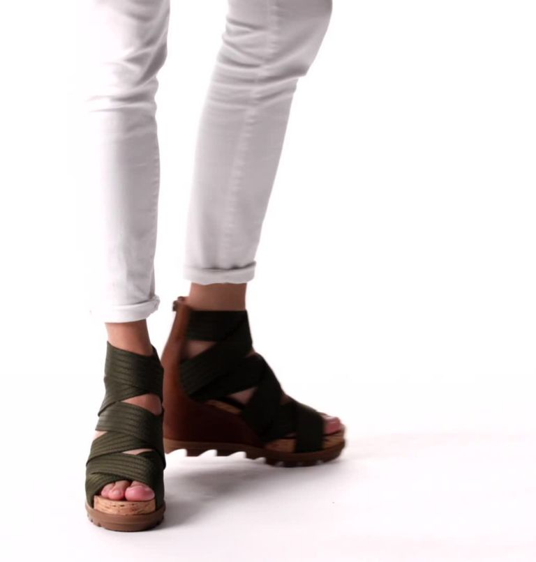 JOANIE™ II STRAP | 242 | 11 Womens Joanie™ II Strap Wedge Sandal, Velvet Tan, video