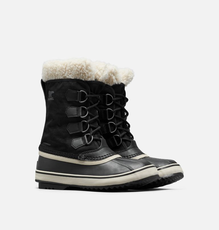 WINTER CARNIVAL™ | 011 | 8.5 Women's Winter Carnival™ Boot, Black, Stone, 3/4 front