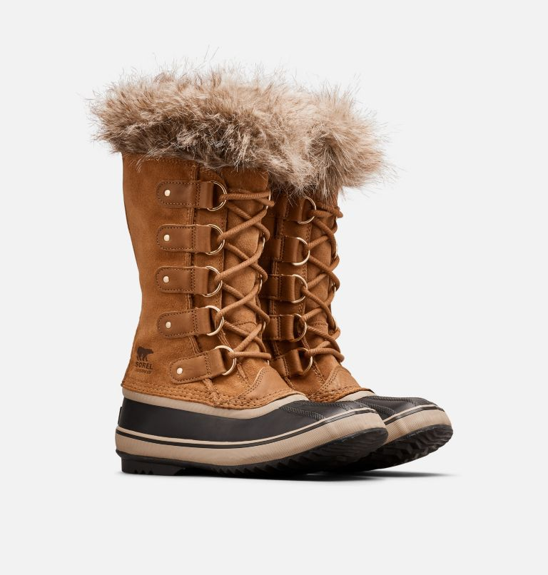 JOAN OF ARCTIC™ | 224 | 5.5 Women's Joan of Arctic™ Boot, Camel Brown, Black, 3/4 front