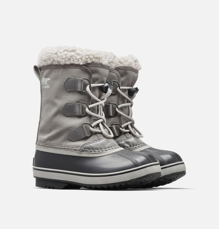 YOOT PAC™ NYLON | 053 | 4 Youth Yoot Pac™ Nylon Snow Boot, Quarry, Dove, 3/4 front