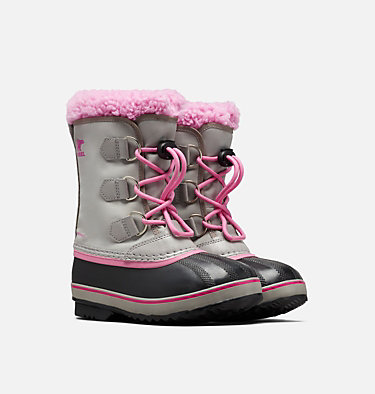 Botte Yoot Pac™ Nylon enfant YOOT PAC™ NYLON | 053 | 1, Chrome Grey, Orchid, 3/4 front