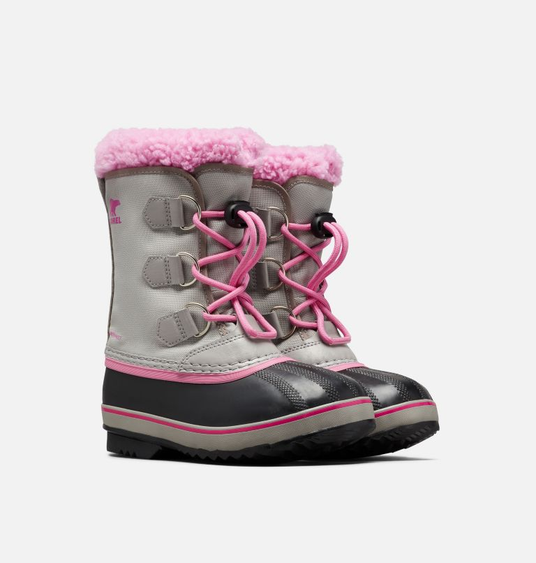 YOOT PAC™ NYLON | 061 | 7 Youth Yoot Pac™ Nylon Boot, Chrome Grey, Orchid, 3/4 front