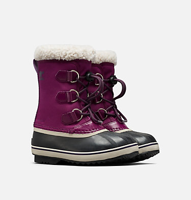 Youth Yoot Pac™ Nylon Boot YOOT PAC™ NYLON | 465 | 2, Wild Iris, Dark Plum, 3/4 front