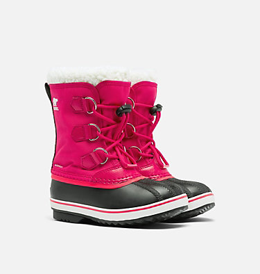 Youth Yoot Pac™ Nylon Boot YOOT PAC™ NYLON | 465 | 2, Bright Rose, 3/4 front