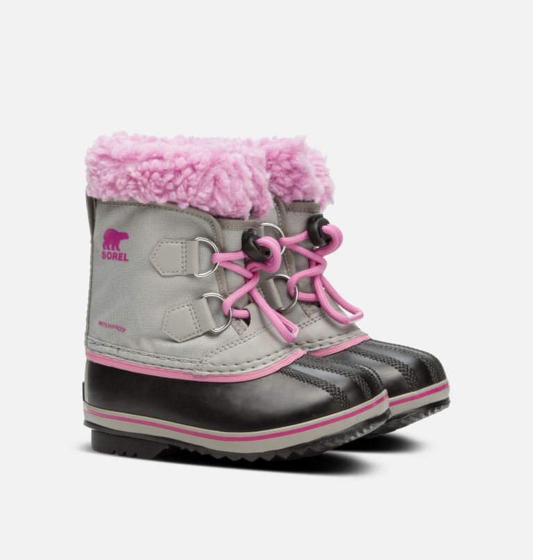 CHILDRENS YOOT PAC™ NYLON | 061 | 9 Botte en nylon Yoot Pac™ pour enfants, Chrome Grey, Orchid, 3/4 front