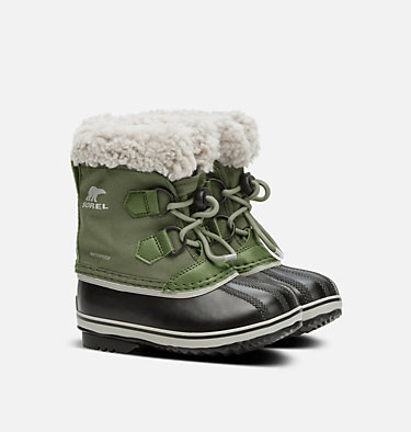 Childrens Yoot Pac™ Nylon Boot CHILDRENS YOOT PAC™ NYLON | 053 | 10, Hiker Green, 3/4 front