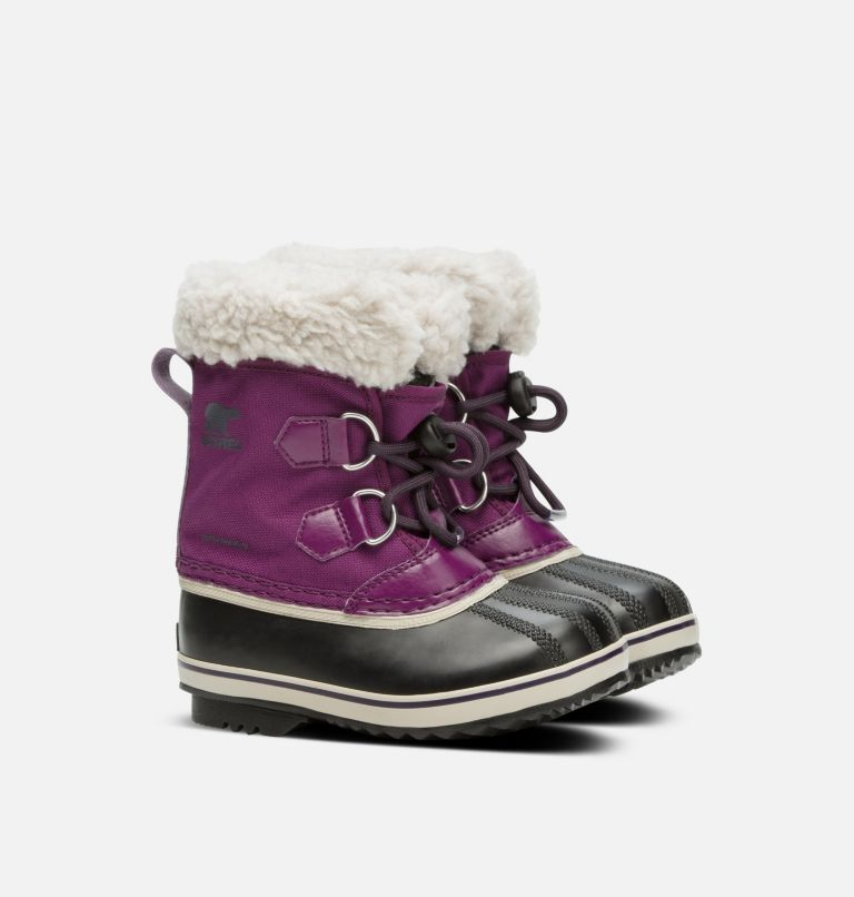 CHILDRENS YOOT PAC™ NYLON | 594 | 13 Childrens Yoot Pac™ Nylon Boot, Wild Iris, Dark Plum, 3/4 front