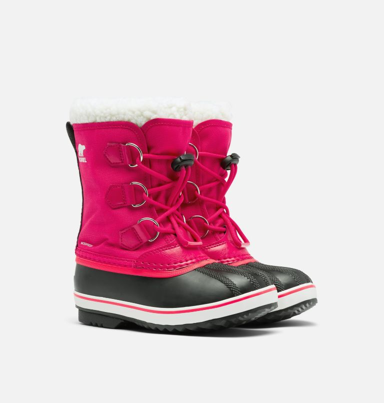 CHILDRENS YOOT PAC™ NYLON | 600 | 8 Childrens Yoot Pac™ Nylon Boot, Bright Rose, 3/4 front