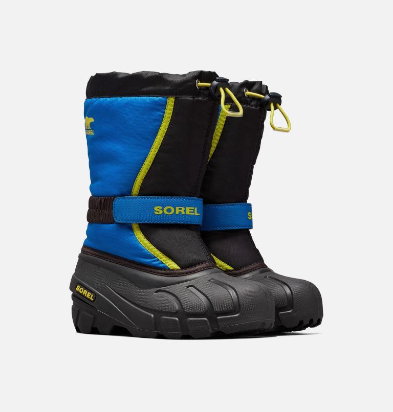 CHILDRENS FLURRY™ | 014 | 8 Children's Flurry™ Boot, Black, Super Blue, 3/4 front