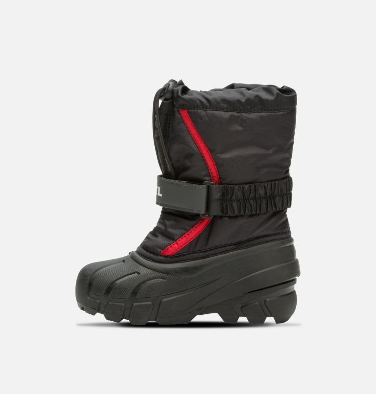 CHILDRENS FLURRY™ | 015 | 9 Childrens Flurry™ Boot, Black, Bright Red, medial