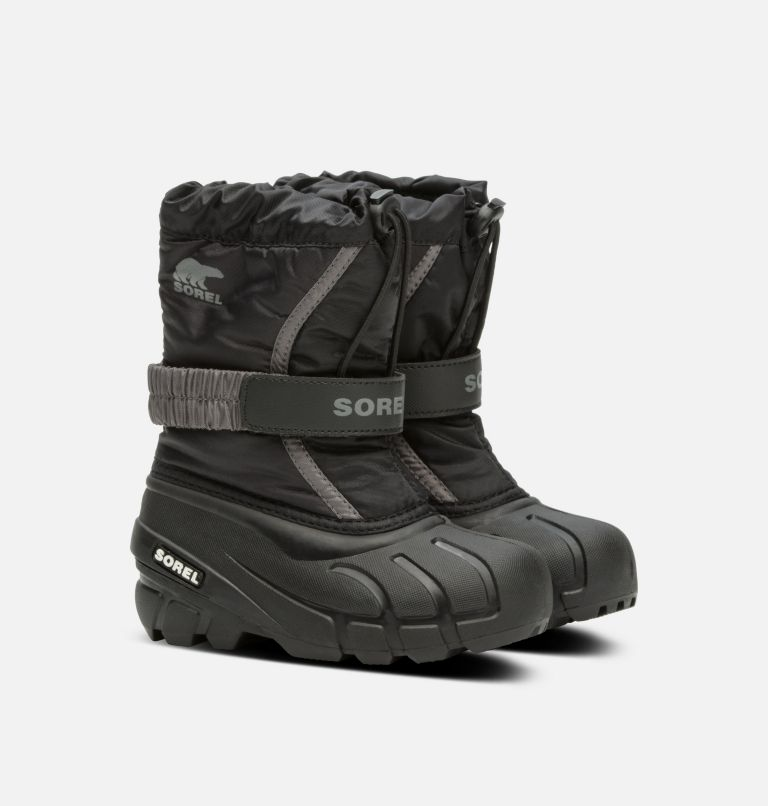 CHILDRENS FLURRY™ | 016 | 9 Childrens Flurry™ Boot, Black, City Grey, 3/4 front