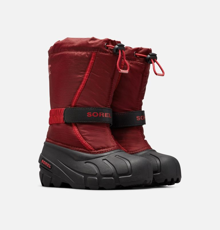 CHILDRENS FLURRY™ | 664 | 8 Childrens Flurry™ Boot, Red Jasper, Mountain Red, 3/4 front