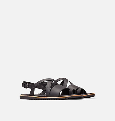 Women's Ella™ Criss Cross Sandal ELLA™ CRISS CROSS | 125 | 5, Black, 3/4 front