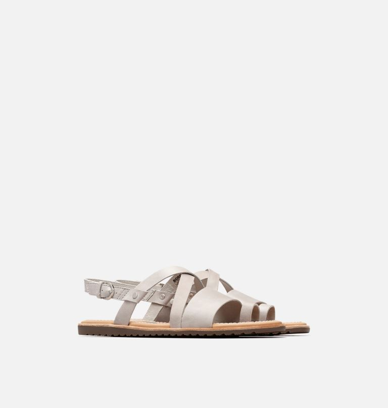 ELLA™ CRISS CROSS | 081 | 10 Women's Ella™ Criss Cross Sandal, Dove, 3/4 front