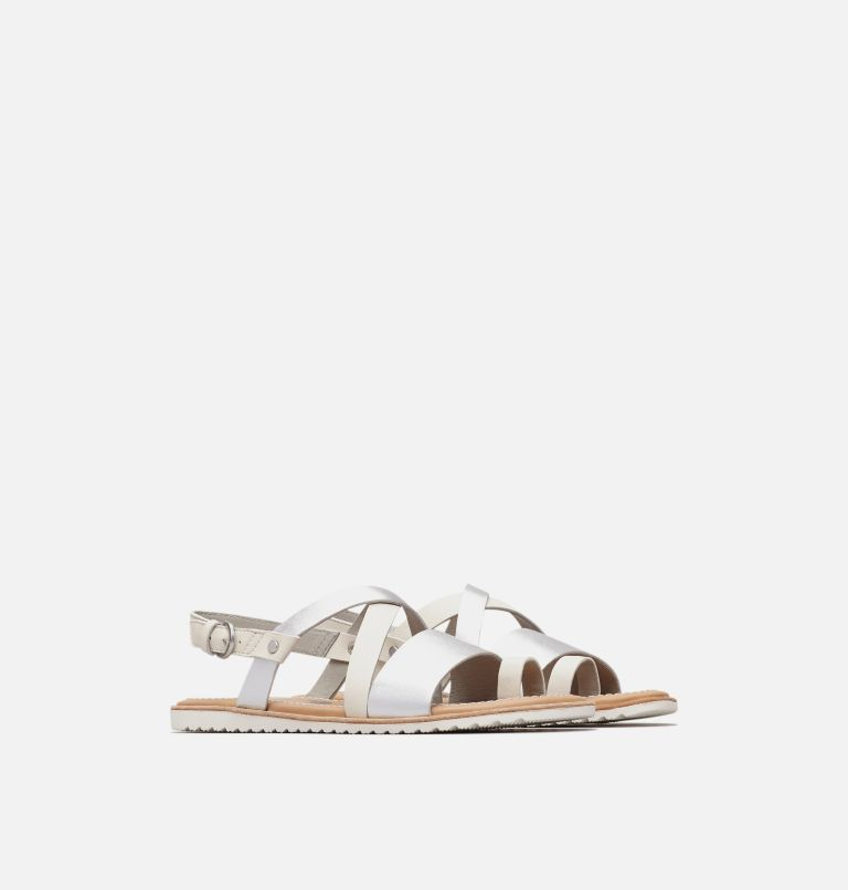 ELLA™ CRISS CROSS | 125 | 5 Women's Ella™ Criss Cross Sandal, Sea Salt, 3/4 front