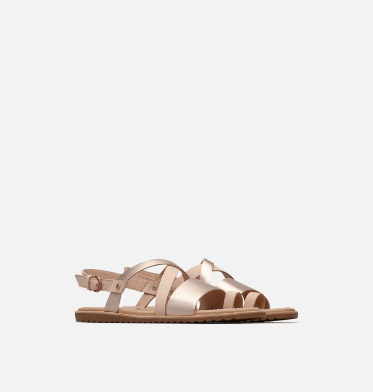 ELLA™ CRISS CROSS | 257 | 10 Women's Ella™ Criss Cross Sandal, Natural Tan, 3/4 front