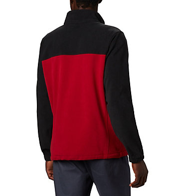 Men's Collegiate Flanker™ III Fleece Jacket - Oklahoma CLG Flanker™ III Fleece Jacket | 016 | M, OK - Black, Red Velvet, back