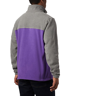 Men's Collegiate Flanker™ III Fleece Jacket - LSU CLG Flanker™ III Fleece Jacket | 046 | XL, LSU - Charcoal Heather, Vivid Purple, back