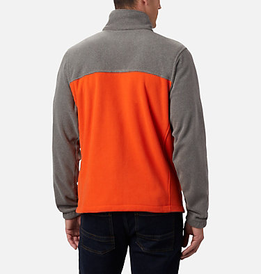 Men's Collegiate Flanker™ III Fleece Jacket - Oregon State CLG Flanker™ III Fleece Jacket | 086 | S, OSU - Charcoal Heather, Tangy Orange, back