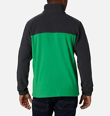 Men's Collegiate Flanker™ III Fleece Jacket - Oregon CLG Flanker™ III Fleece Jacket | 972 | XL, UO - Shark, Fuse Green, back