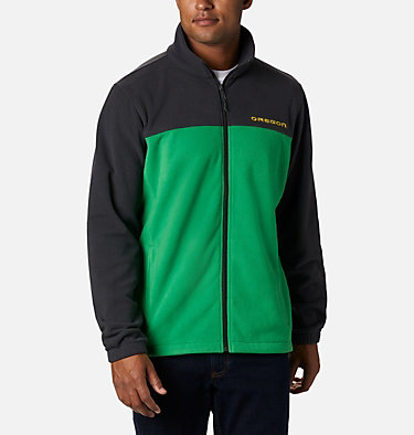 Men's Collegiate Flanker™ III Fleece Jacket - Oregon CLG Flanker™ III Fleece Jacket | 972 | XL, UO - Shark, Fuse Green, front
