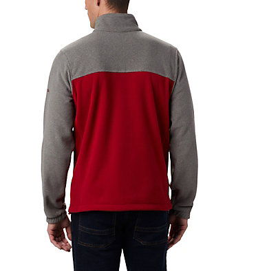 Men's Collegiate Flanker™ III Fleece Jacket - Washington State CLG Flanker™ III Fleece Jacket | 094 | XS, WAZ - Charcoal, Red Velvet, back