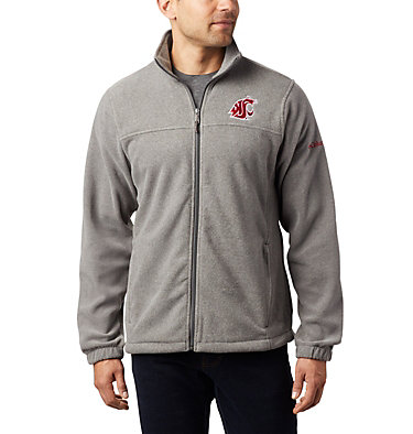 Men's Collegiate Flanker™ III Fleece Jacket - Washington State CLG Flanker™ III Fleece Jacket | 094 | XS, WAZ - Charcoal, front