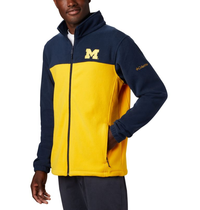 CLG Flanker™ III Fleece Jacket | 424 | XS Men's Collegiate Flanker™ III Fleece Jacket - Michigan, UM - Collegiate Navy, Collegiate Yellow, a1