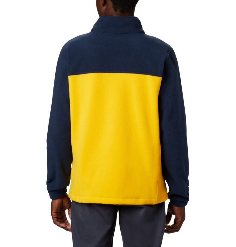 CLG Flanker™ III Fleece Jacket | 424 | XS Men's Collegiate Flanker™ III Fleece Jacket - Michigan, UM - Collegiate Navy, Collegiate Yellow, back