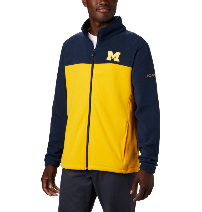 CLG Flanker™ III Fleece Jacket | 424 | XS Men's Collegiate Flanker™ III Fleece Jacket - Michigan, UM - Collegiate Navy, Collegiate Yellow, front