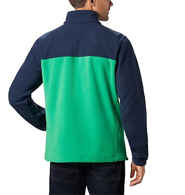 Men's Collegiate Flanker™ III Fleece Jacket - Notre Dame CLG Flanker™ III Fleece Jacket | 430 | XS, ND - Collegiate Navy, Fuse Green, back