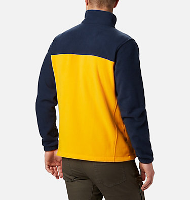 Men's Collegiate Flanker™ III Fleece Jacket - West Virginia University CLG Flanker™ III Fleece Jacket | 435 | XXL, WV - Collegiate Navy, MLB Gold, back