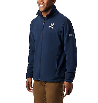Men's Collegiate Flanker™ III Fleece Jacket - Notre Dame CLG Flanker™ III Fleece Jacket | 430 | XS, ND - Collegiate Navy, front