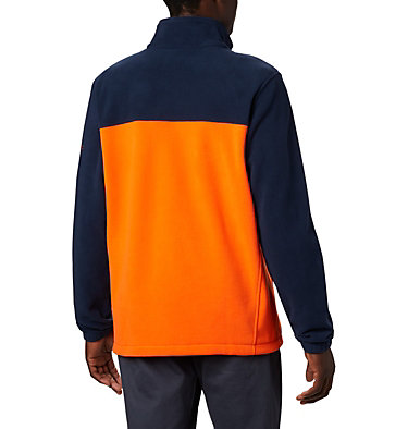 Men's Collegiate Flanker™ III Fleece Jacket - Auburn CLG Flanker™ III Fleece Jacket | 464 | L, AUB - Collegiate Navy, Spark Orange, back