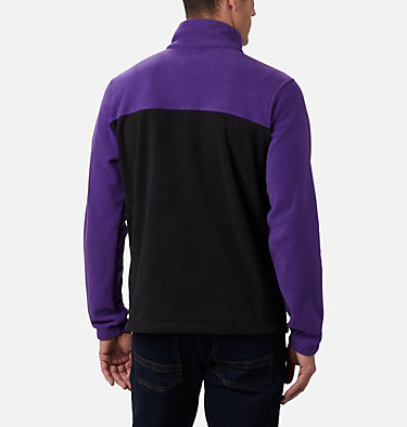 Men's Collegiate Flanker™ III Fleece Jacket - Clemson CLG Flanker™ III Fleece Jacket | 558 | L, CLE - Vivid Purple, Black, back