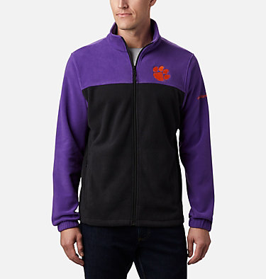 Men's Collegiate Flanker™ III Fleece Jacket - Clemson CLG Flanker™ III Fleece Jacket | 558 | L, CLE - Vivid Purple, Black, front